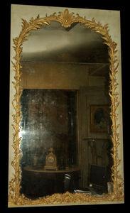 Philippe Vichot - miroir de boiserie louis xv en bois doré - Specchio