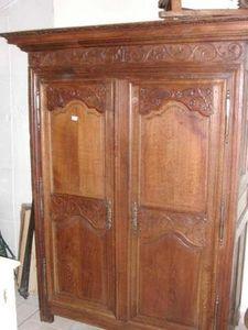 Antiquites Le Vieux Moulin - armoire louis xiv en chêne - Armadio Con Ante A Battente