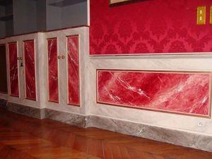 pique decor - boiserie faux marbres - Finto Marmo