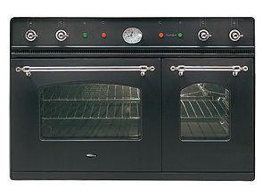 Britannia Living - 90cm twin graphite (electric) - Gruppo Cottura Doppio Forno