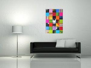 JOHANNA L COLLAGES - patchwork multicolore : inside light - Quadro Decorativo