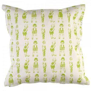 La Chaise Longue - coussin paper dolls vert - Cuscino Quadrato