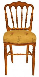 Demeure et Jardin - chaise napoléon iii tissu broché ivoire - Sedia