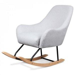 Demeure et Jardin - fauteuil rocking chair design scandinave bois et m - Poltrona