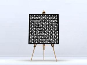 la Magie dans l'Image - toile trèfle noir blanc - Stampa Digitale Su Tela