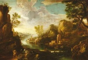 BERGAMO ANTIQUARIATO DI UBIALI MONICA - paesaggio italiano - Olio Su Tela E Olio Su Tavola