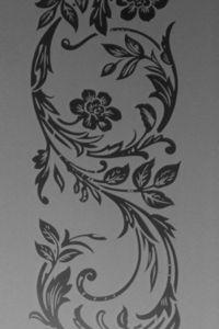Barron Glass - clematis - Panello Di Finestra