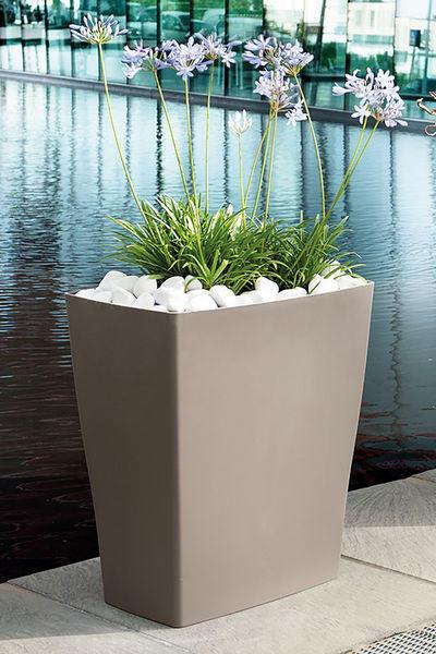 Muret reverso taupe vaso da giardino plastica 59x39xh65cm - Vaso da giardino ...